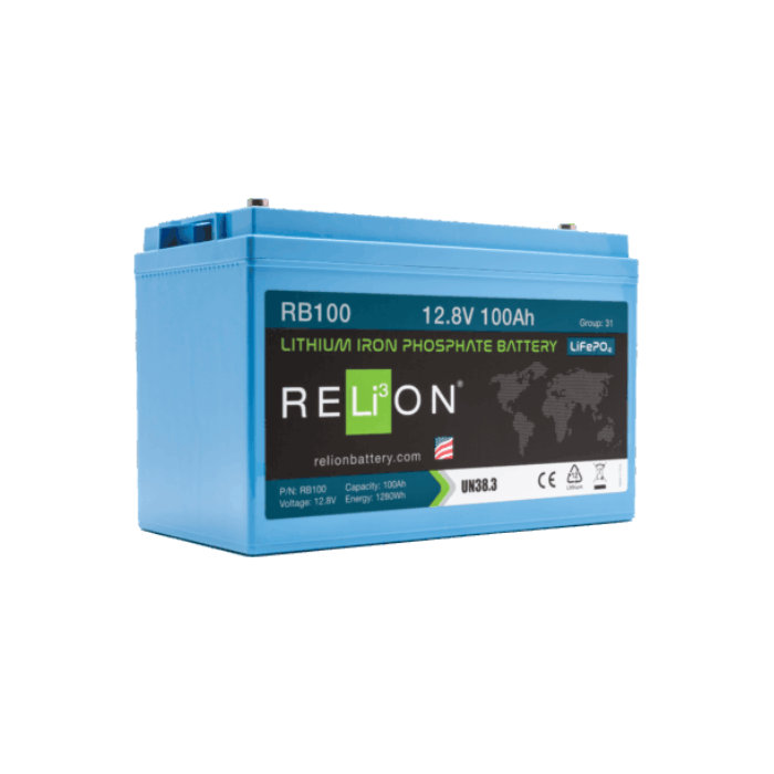 RELiON RB100 Lithium Iron Phosphate Battery for Solar
