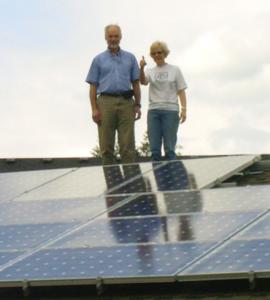 Happy Solar Customers on Roof