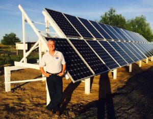 Man who did DIY solar.