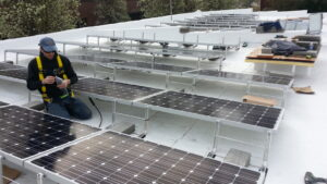 Flat Roof Panel Mounting