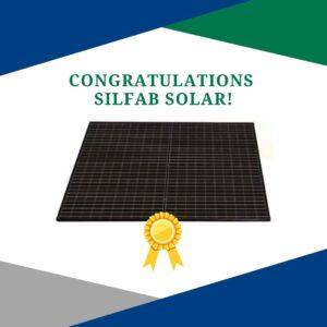 Silfab Solar congratulations