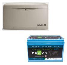 Kohler Generator and RELiON Battery